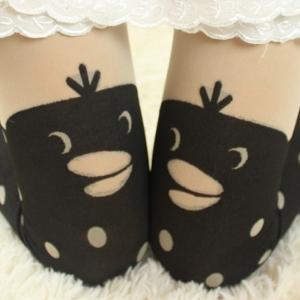 Duck Dot Pantyhose Duck Pantyhose D..