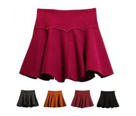 Women girl Skirts Skirt For Winter Mini Skirt For Autumn Sweet Round Skirt Lady Mini Skirt Pleated Skirts (SD8)
