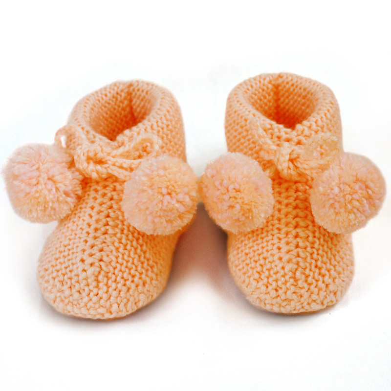 Knitting Baby Shoes : Knitted baby bootie knit socks newborn booties wool